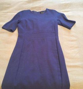 Платье синее 44