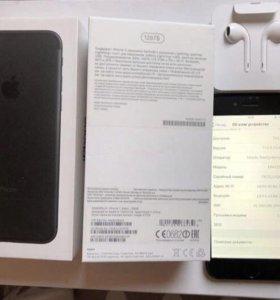 iPhone 7 128 гб black матовый. Полный комплект