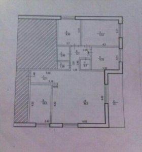 Квартира, 4 комнаты, 92.5 м²