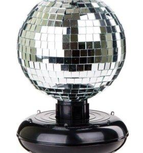 Зеркальный диско шар со светодиодами