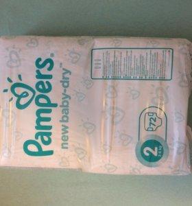 Подгузники памперс для новорожденных детей 3-6 кг