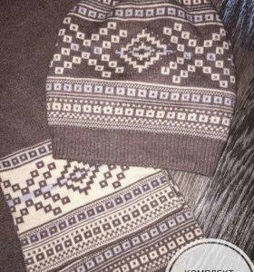 Набор шапка+шарф ангора