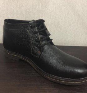 Кожаные ботинки с мехом