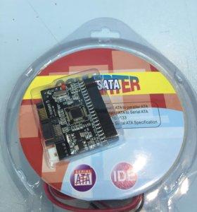 Переходник для жестких дисков с IDE на SATA