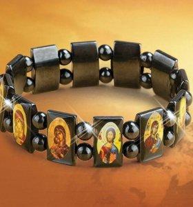 Гематитовый браслет православный