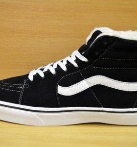 Новые Vans зимние кеды кроссовки ботинки c мехом