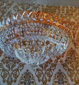 Новая хрустальная люстра Кольцо купол 6 ламп Ø450