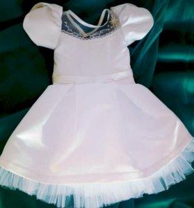 Платье Нарядное для девочки новое, ручная работа