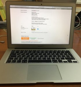 Apple MacBook Air 13, Core i5, 1.8 ГГЦ, 8 Гб, 128