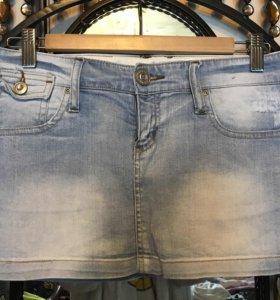 Классная Джинсовая мини-юбка (S)