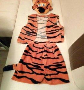 костюмы заяц,гном,снеговик,тигр.Прокат.