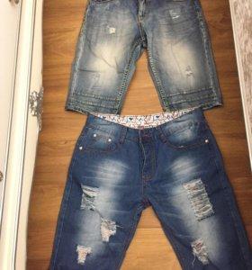 Бриджи джинсовые 2 пары