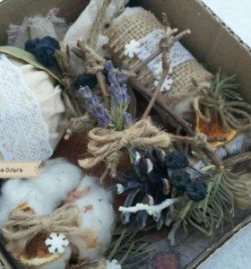 Елочные игрушки набор,эко -стиль,елочные украшения