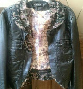 Куртка кожанная, размер XS