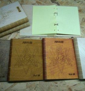 Оригинальные тетради-блокноты из дерева
