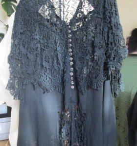 блузка шёлковая с кружевом