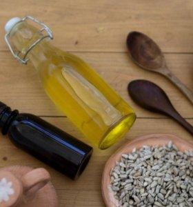 Подсолнечное масло холодного отжима 1 л