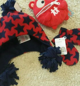 Шапка+ шарф/перчатки
