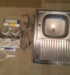 Раковина, система фильтрации, фильтр, смеситель