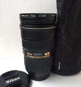 Объектив NIKON AF-S NIKKOR 24-70mm f/2.8G ED.