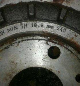 Тормозной передний диск ваз R-14