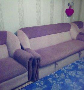 ТОРГ СРОЧНО Диван и 2 кресла