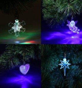 Новогодние украшения с подсветкой