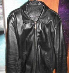 Куртка кожаная мужская демисезонная