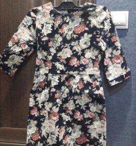 Яркое цветное платье