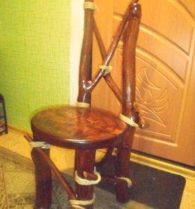 стул из массива дерева в стиле рустик