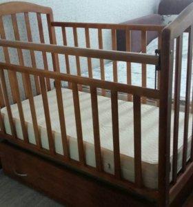 Кроватка детская (Алита 4) + матрас