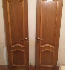 Межкомнатные двери с коробками,наличниками,5шт