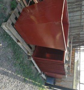 Мусорные баки контейнеры, 2мм толщина, объем 0,75