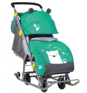 Санки - коляска Ника детям 7