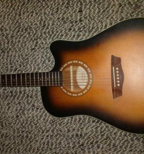 Электроакустическая гитара WashburnWD7SCE-ATBM.