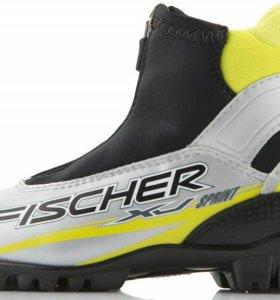 Комплект: беговые лыжи, палки, ботинки, липучки.