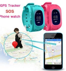 Умные детские часы телефон с GPS Q50