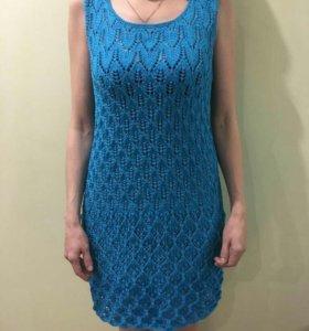 Туника,платье вязаная