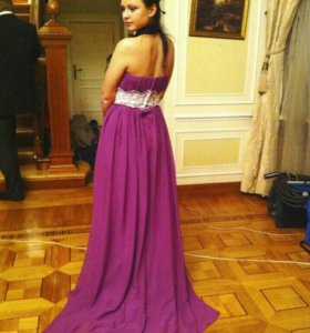 Платье фиолетового цвета(цвет как на последнем фот