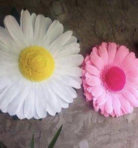 Цветы из бумаги (ромашки, герберы)
