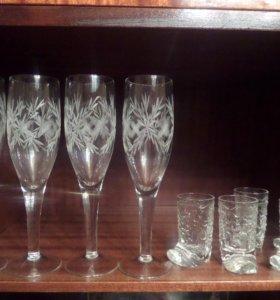 "Фужеры,стаканы,стопки ""Сапожок"""