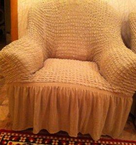 чехлы на диван и два кресла