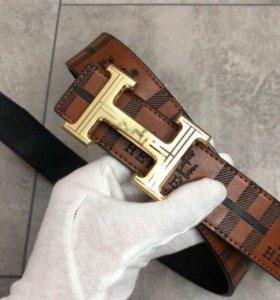 Кожаный ремень Hermes мужской новый