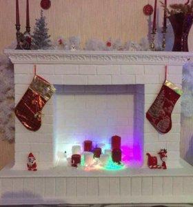 Камин к Рождеству, Handmade