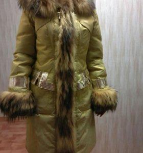 Пальто пуховое, зимнее