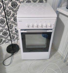 Газовая плита (+духовка электрическая )