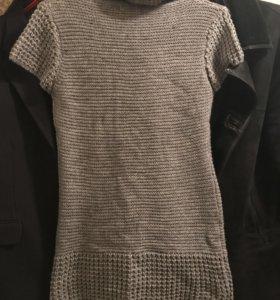 Туника свитер платье вязаная новая