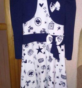 Платье с болеро нарядное на 8-10 лет