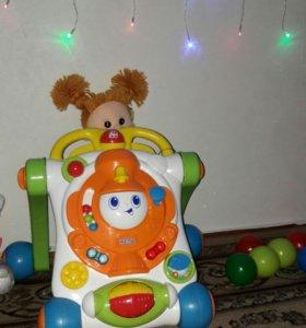 Детская музыкальная каталка,ходунки в подарок