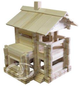 Деревянный конструктор Домик - знакомый с детства